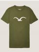 Cleptomanicx Möwe T-Shirt (rifle green)