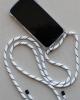 Mayumi Iphone Necklace Case (black white light)