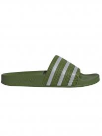 Adidas Adilette Slipper (tech olive/ftwr white/tech olive)