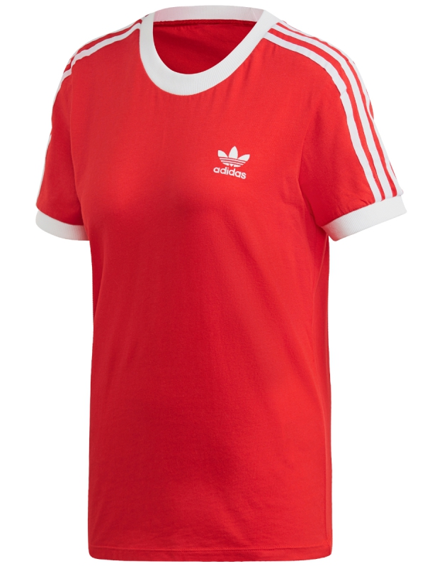 Adidas 3 Stripes T-Shirt (lusred/white)