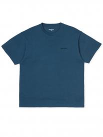 Carhartt WIP Script Embroidery T-Shirt (prussian blue/black)