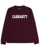 Carhartt WIP College Longsleeve (merlot/white)