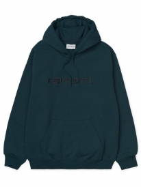 Carhartt WIP Sweat Hoodie (duck blue/black)