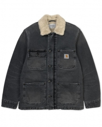 Carhartt WIP Fairmount Coat (black worn bleached)