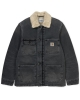Carhartt WIP Fairmount Coat (black worn bleached)