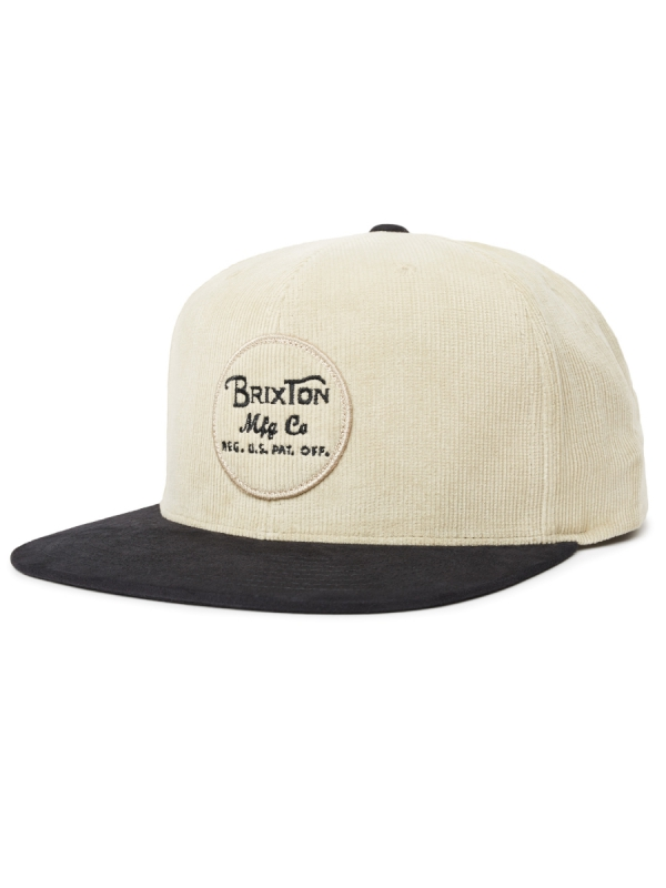 Brixton Wheeler Cap (black/vanilla)