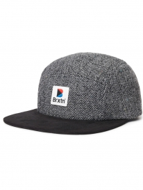 Brixton Stowell 5 Panel Cap (black/grey)