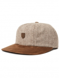 Brixton B-Shield Cap (brown tweed)