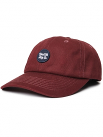 Brixton Wheeler Curved Cap (maroon)