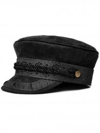 Brixton Albany Cap (black faux suede)
