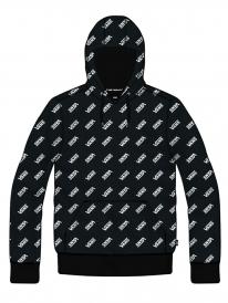 Vans Allover Distorted Hoodie (black/white)