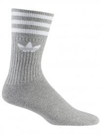 Adidas Solid Crew Socken 3 Paar (grey/white)