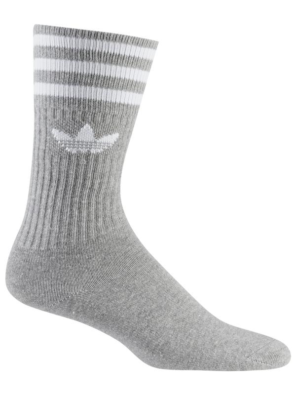 Adidas Solid Crew Socken 3 Paar (grey/white)