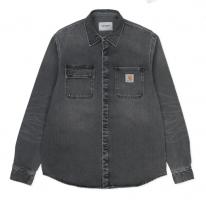 Carhartt WIP Salinac Shirt Jac (black worn bleached)