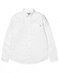 Carhartt WIP Button Down Pocket Hemd (white)