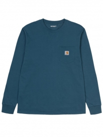 Carhartt WIP Pocket Longsleeve (duck blue)