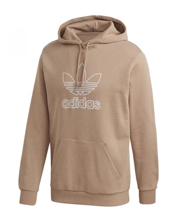 Adidas Trefoil Hoodie (grey heather/white)