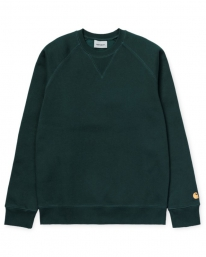 Carhartt WIP Chase Sweater (duck blue/gold)