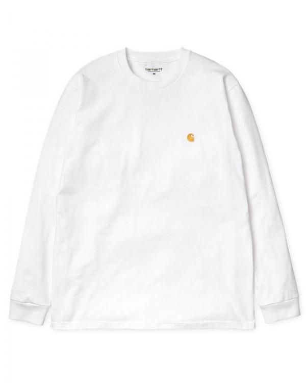 Carhartt WIP Chase Longsleeve (white/gold)