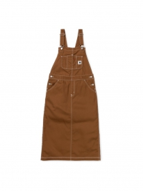 Carhartt WIP W Bib Skirt Long (hamilton brown rigid)