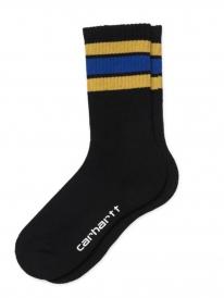 Carhartt WIP Grant Socks (black/colza/thunder blue)