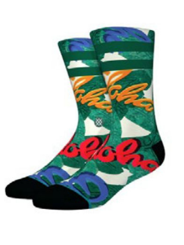 Stance Aloha Leaves Socken (green)