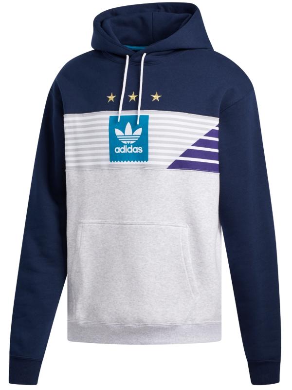 Adidas Elevated Tri Hoodie (collegiate navy/pale melange/collegiate purple/collegiate purple)