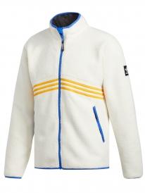 Adidas Sherpa Full Zip Jacke (core white/collegiate orange/hir blue)