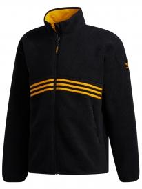 Adidas Sherpa Full Zip Jacke (black/active gold)