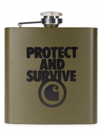 Carhartt WIP Protect Survive Whiskey Flask (cypress)
