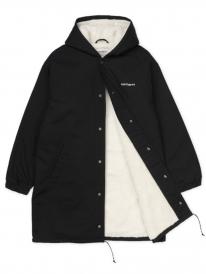 Carhartt WIP W Script Coach Jacket (black/white stone washed)