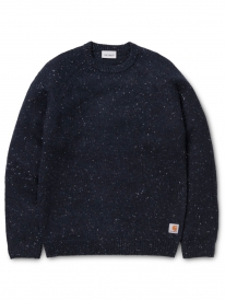 Carhartt WIP Anglistic Strick Sweater (dark navy heather)