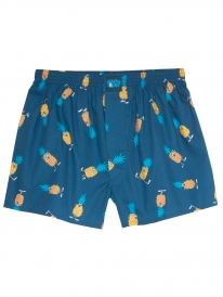 Cleptomanicx Ananas Boxershorts (blue dive)