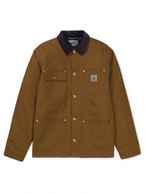 Carhartt WIP Michigan Coat (hamilton brown rigid)