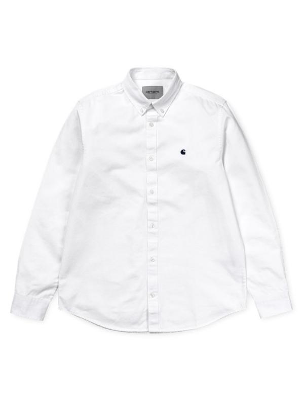 Carhartt WIP Madison Hemd (white/dark navy)