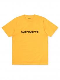 Carhartt WIP Script T-Shirt (sunflower/black)