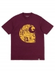 Carhartt WIP Collage C T-Shirt (shiraz/sunflower)