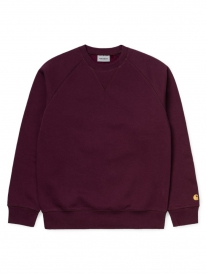 Carhartt WIP Chase Sweater (shiraz/gold)