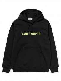 Carhartt WIP Sweat Hoodie (black/lime)