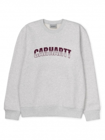 Carhartt WIP District Sweater (ash heather/shiraz)