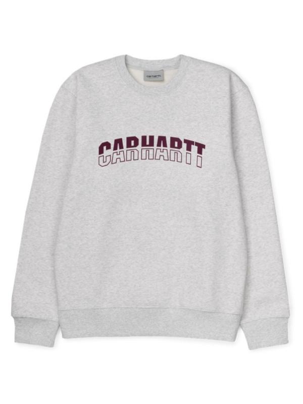 Carhartt WIP District Sweater (ash heather/shiraz)