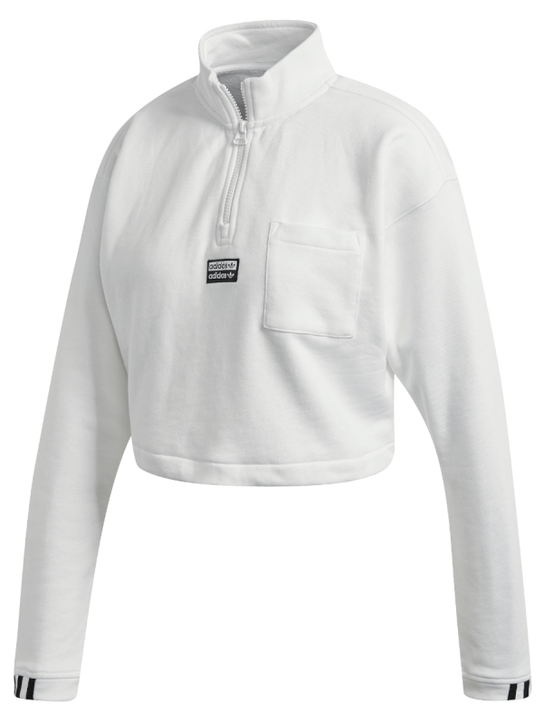 Adidas Cropped Hoodie (white)