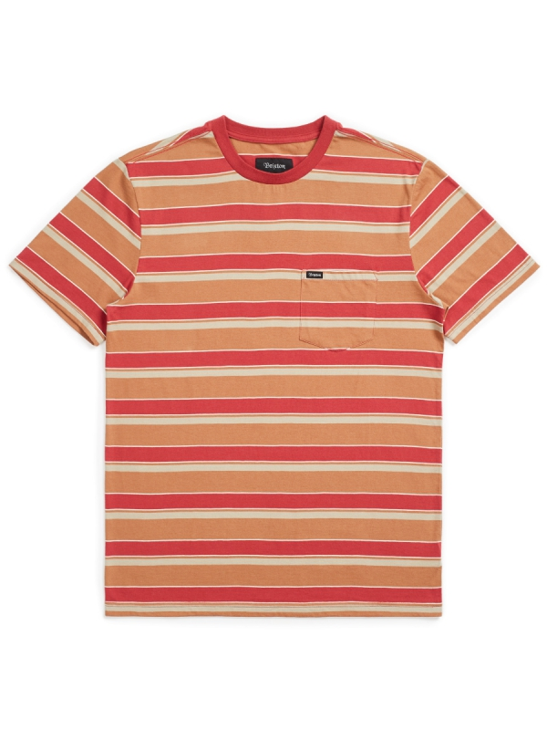 Brixton Hilt Pocket T-Shirt (lava red)