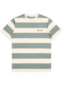 Brixton Hilt Print T-Shirt (dove/cypress)