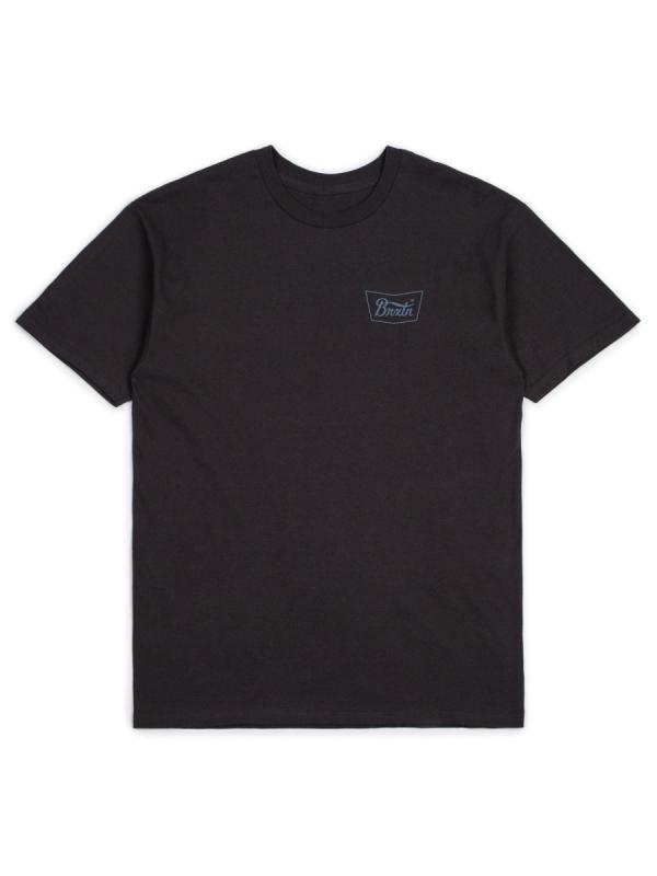 Brixton Stith T-Shirt (washed black/blue)