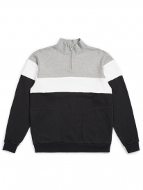 Brixton Cantor 1/2 Zip Sweater (heather grey/black)