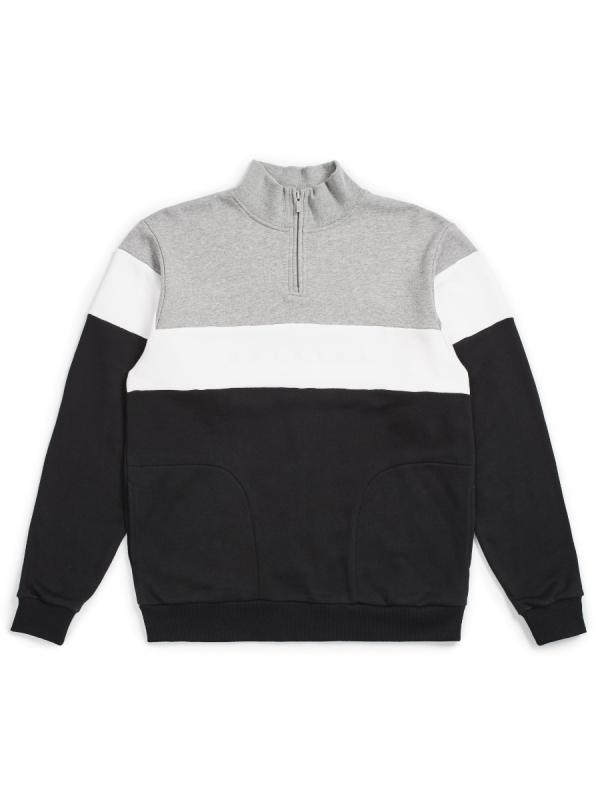 Brixton Cantor 1/2 Zip Sweater (heather grey/black)