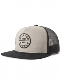 Brixton Oath 3 Mesh Cap (grey/black)