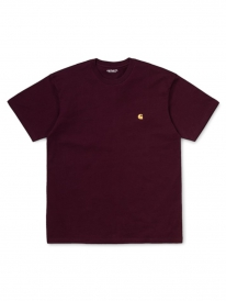 Carhartt WIP Chase T-Shirt (shiraz/gold)