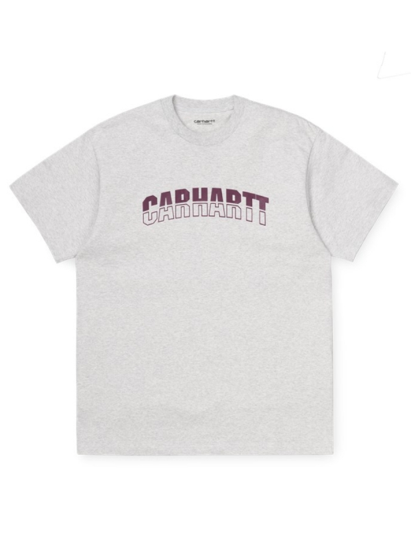 Carhartt WIP District T-Shirt (ash heather/shiraz)